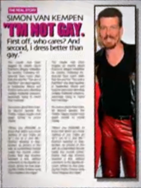 Simon van Kempen says he is not gay in fake magazine story from Couples Therapy