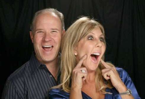 Brooks Ayers and Vicki Gunvalson making a funny face