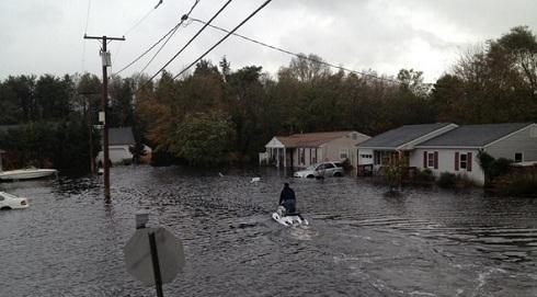 Roger Mathews' New Jersey home damaged in Hurricane Sandy