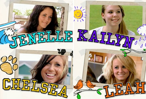 Teen Mom 2 cast photo with Jenelle Evans, Kail Lowry, Chelsea Houska, and Leah Messer