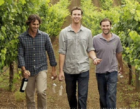 Ben Flajnik and friends at Envolve Winery