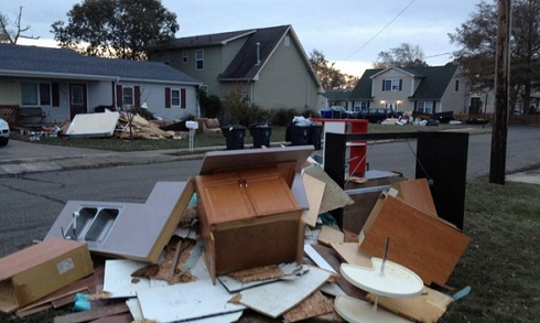 Roger Matthews' home damaged in Hurricane Sandy