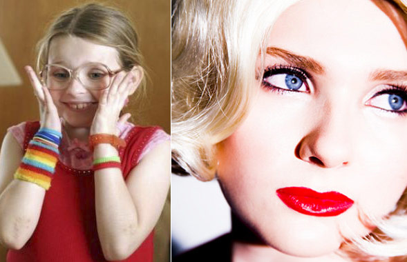 Abigail breslin at 10 for Little Miss Sunshine and 16 for Final Girl