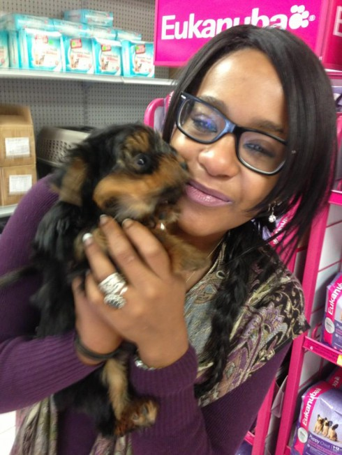 Bobbi Kristina Brown and the puppy given to her by Nick Gordon