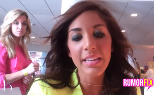 Farrah Abraham with a scary blonde girl over her right shoulder!
