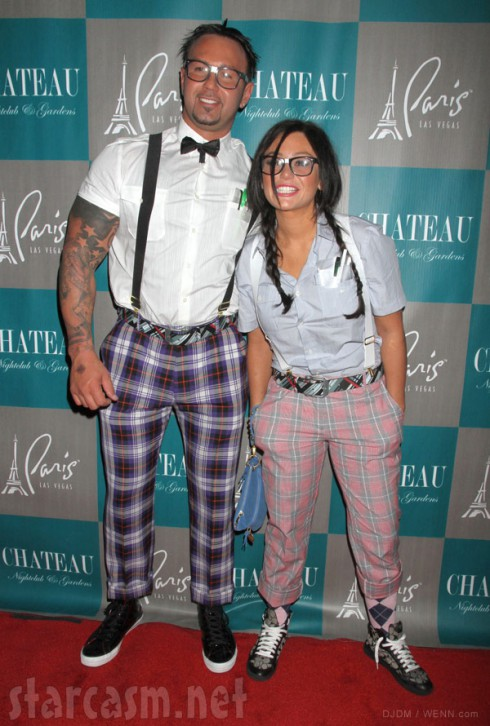 JWoww and fiance Roger Mathews in Halloween costumes 2012