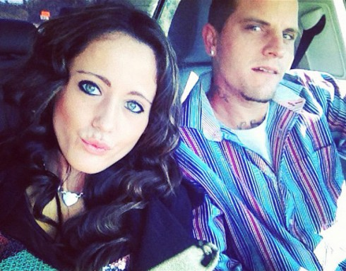 Jenelle Evans and husband Courtland Rogers in her car