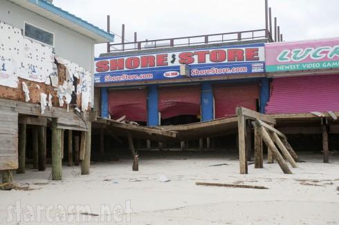 Jersey Shore t-shirt shop damaged by Hurricane Sandy