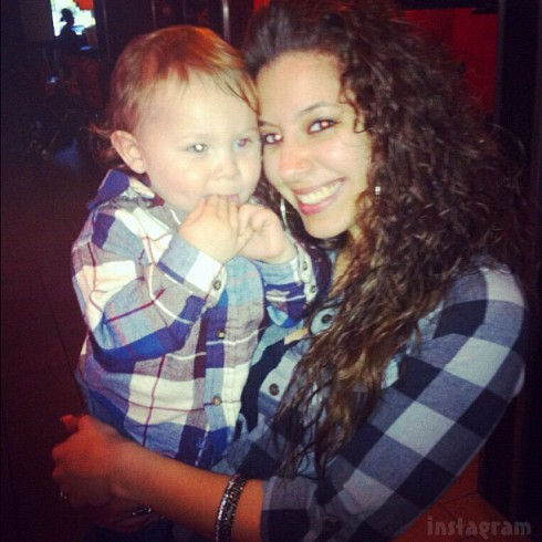 Kaily Lowry's son Isaac with Jonathan Rivera's girlfriend Vee Vetzabe Torres