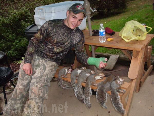 Shain from Buckwild with some squirrel trophies