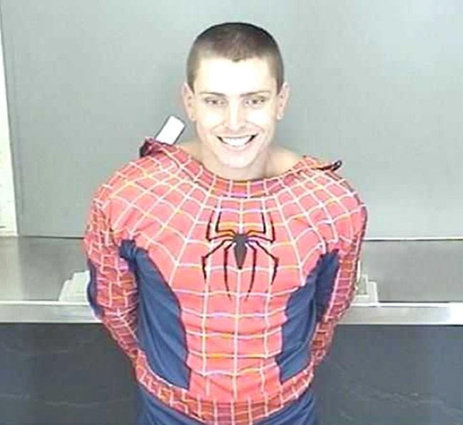 Daniel James Bradley arrested in Spider-Man costume