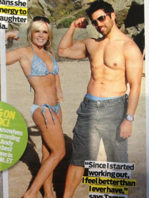 Tamra Barney bikin iphoto after breast reduction surgery