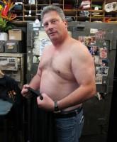 Wayne Cohen of Hardcore Pawn: Chicago shirtless