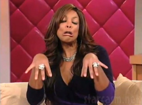 Wendy Williams saying How you doin? catchphrase with hands