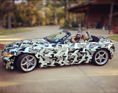 Duck Dynasty Willie Robertson's camouflage BMW Z4 Roadster convertible