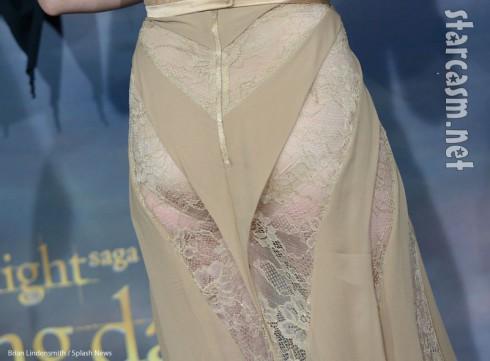 Kristen Stewart Breaking Dawn butt cheeks