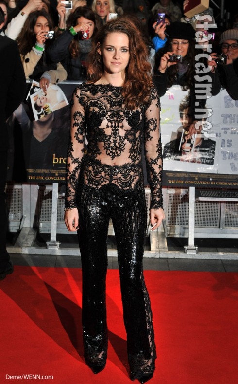 Krisen Stewart bodysuit twilight U.K. premiere