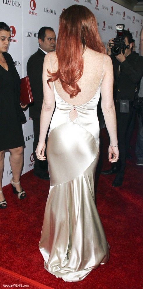 Lindsay Lohan liz & dick dress shimmer