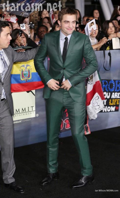 Robert Pattinson cute green suit Twilight Breaking Dawn part 2