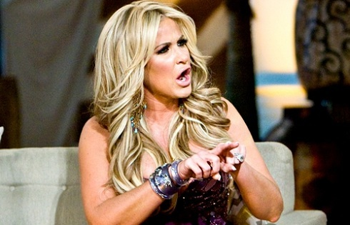 Kim Zolciak at the reunion special for 'Real Housewives of Atlanta' season 4
