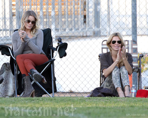 LeAnn Rimes and Brandi Glanville at her kids' soccer game