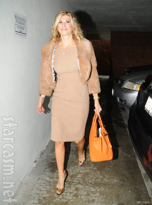 Alexis Bellino arrives at Tamra Barney's wedding dress fitting for Real Housewives of Orange Count Season 8