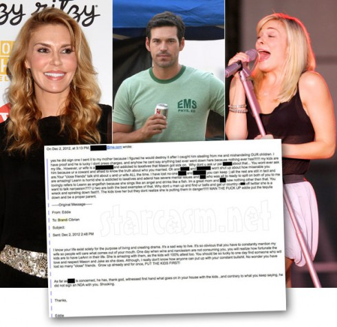 Brandi Glanville Eddie Cibrian and LeAnn Rimes feud escalates with emails