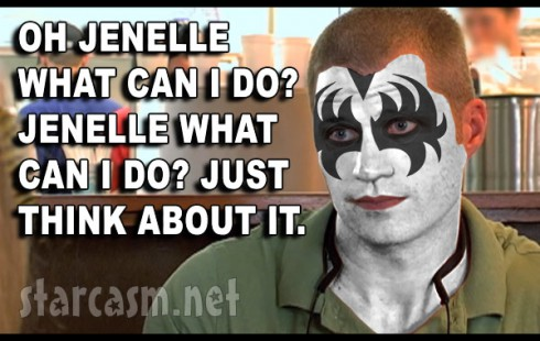 Jenelle Evans' lawyer Dustin Sullivan as Gene Simmons of Kiss