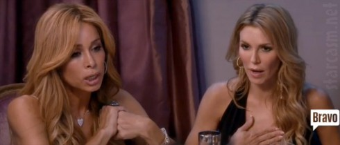 Brandi Glanville and Faye Resnick fight at Kyle Richards' party