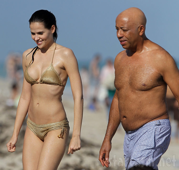 Russell Simmons with grilfriend, model Hana Nitsche