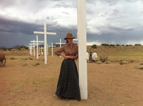 January Jones as former prostitute Sarah in a Sweetwater promotional photo