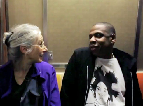 Ellen Grossman meets Jay-Z on the subway in New York City