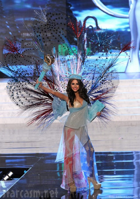 Olivia Culpo as Lady Liberty during the 2012 Miss Universe Pageant