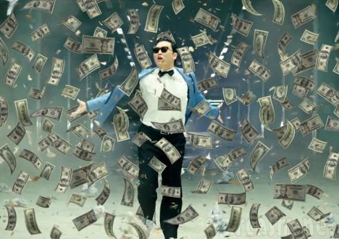 Psy Gangnam Style money