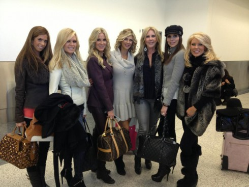 Real Housewives Of Orange County Season 8 cast leaving on a ski trip to Whistler Canada