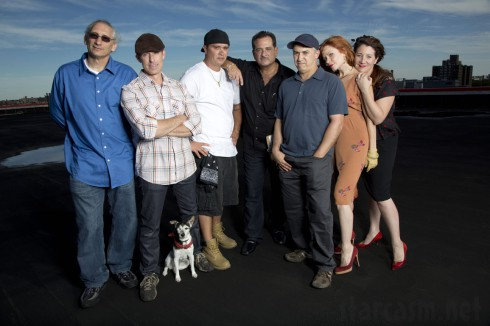 Storage Wars New York cast photo with bidders and auctioneer