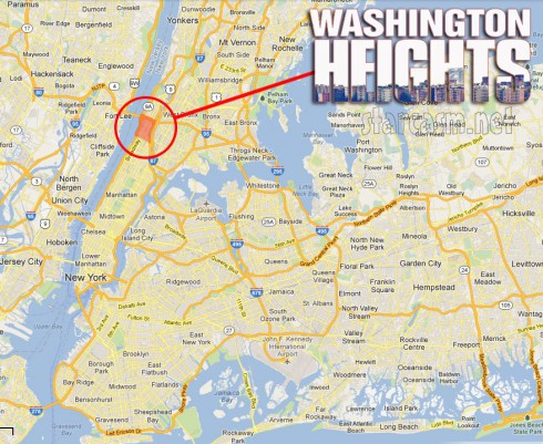 MTV Where is Washington Heights map New York City