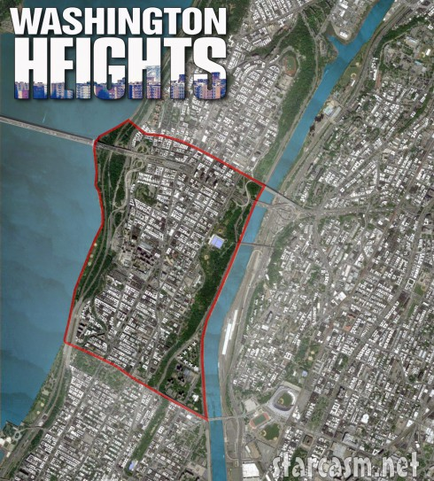 Satellite map of Washington Heights from the MTV reality show