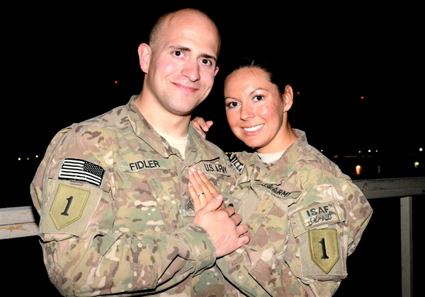 Soldiers married by proxy