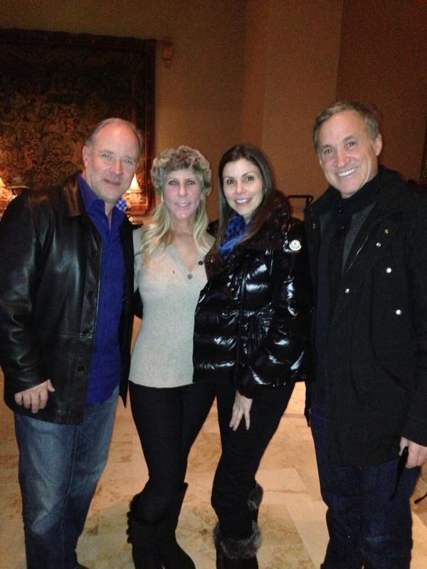 'Real Housewives of Orange County' stars Brooks Ayers, Vicki Gunvalson, Heather Dubrow, and Terry Dubrow celebrate New Year's Eve