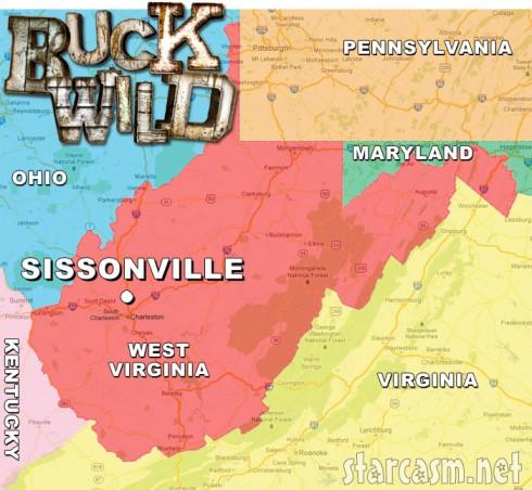 Where was MTV's Buckwild filmed? Map of Sissonville West Virginia