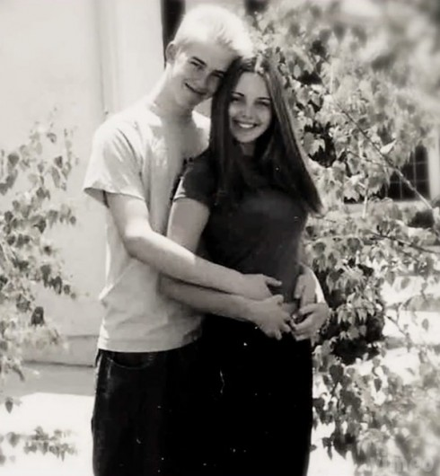High school photo of Charlie Sheen's daughter Cassandra Eztevez and boyfriend Case Huffman