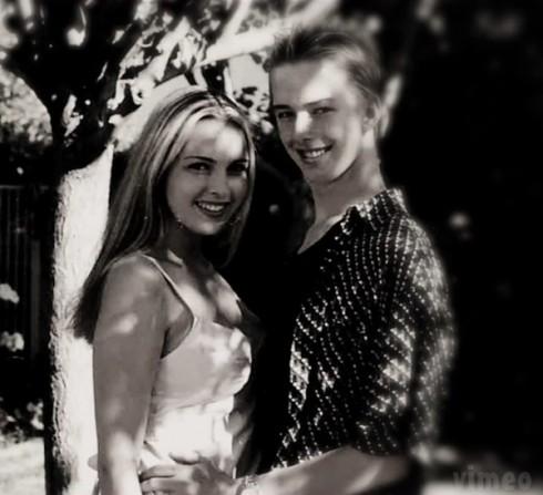 Cassandra Estevez and Casey Huffman in high school
