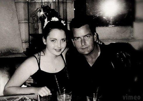Charlie Sheen with daughter Cassandra