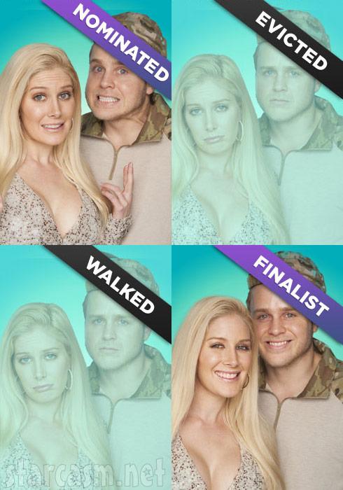 Heidi Montag Spencer Pratt Big Brother nominated evicted walked finalist