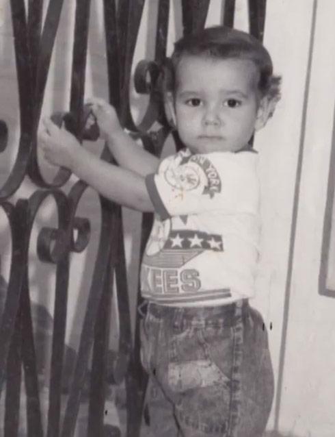 American Idol Lazaro Arbos toddler