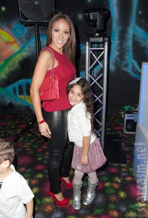 Melissa Gorga and daughter Antonia Gorga at Gia Giudice's 12th birthday party