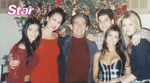 Ellen Kardashian with Robert Kardashian and Kim Khloe Kourtney and Rob