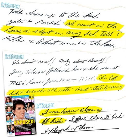 Robert Kardashian's diary hand-written journal from In Touch