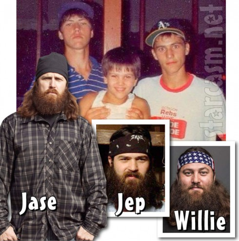 Jase Robertson Jep Robertson and Willie Robertson before and after the beards Duck Dynasty